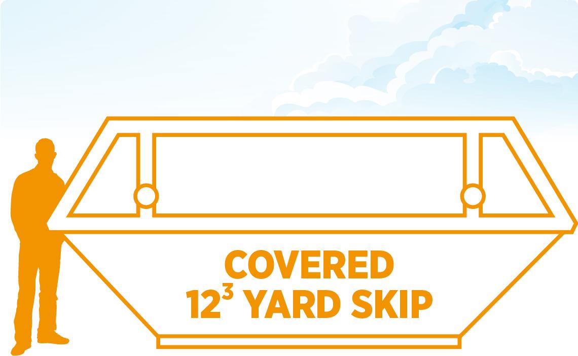 Tavistock Skip Hire 12 Yard Covered Skip